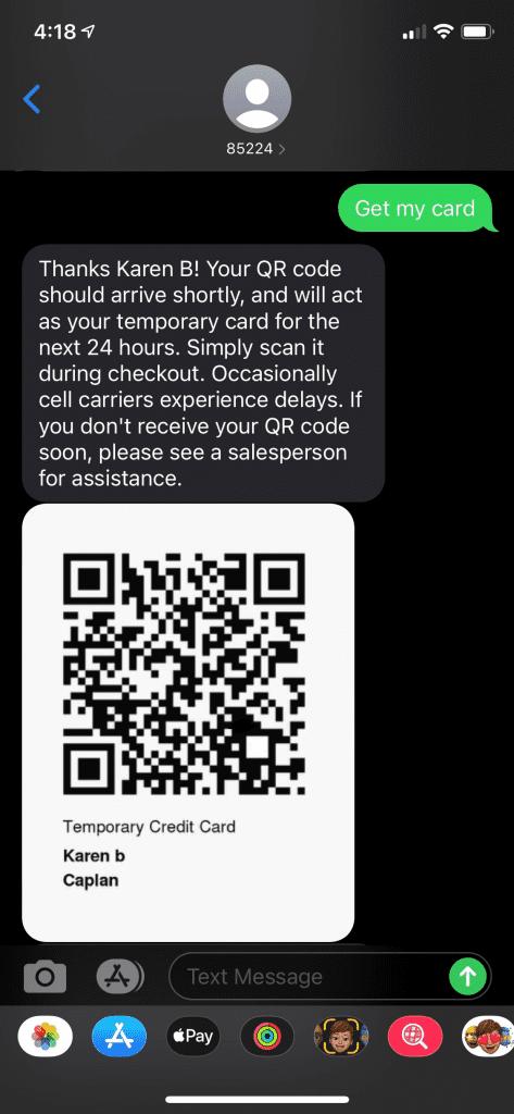 QR Code Text Message